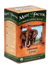 Mate Factor Organic Chai Yerba Mate Tea Bags