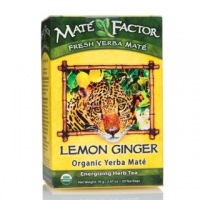 Mate Factor Organic Lemon Ginger Yerba Mate Tea Bags