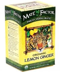 Mate Factor Organic Lemon Ginger Yerba Mate Tea Bags